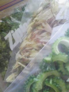 野菜を冷凍保存